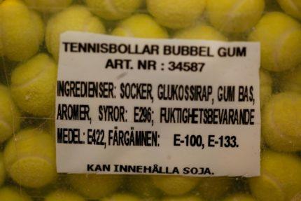 Tennisbollar Tuggummi (2 st)