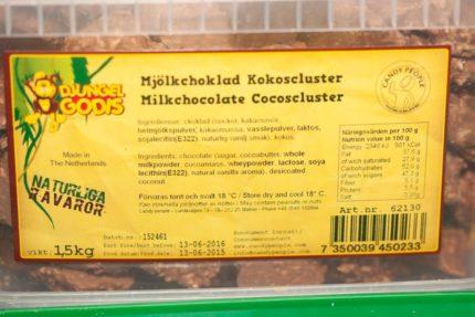 Mjölkchoklad kokoscluster (2 st)