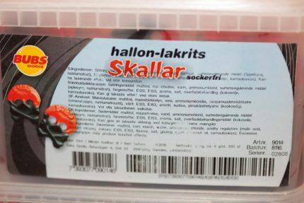 Hallon-Lakrits Skallar (Sockerfria) (2 st)