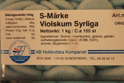 S- märke Violskum Syrliga (2 st)