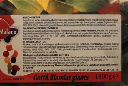 Gott & blandat giants (5 st)