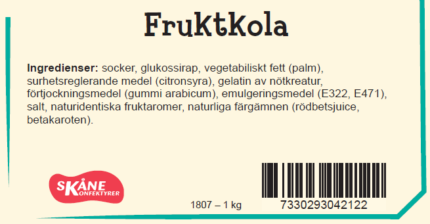 Fruktkola (3 st)