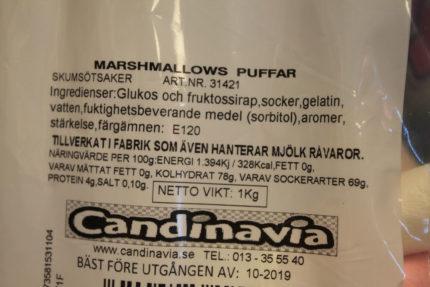 Marshmallows Puffar (3 st)