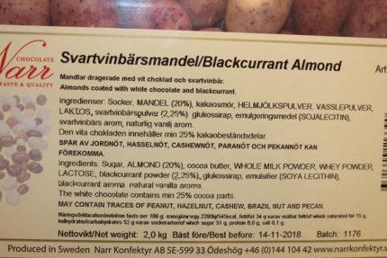 Narr Svartvinbärsmandel (3 st)