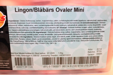 Lingon/Blåbär Ovaler Mini (3 st)
