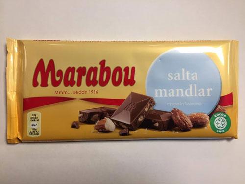 Marabou Salta Mandlar 200g